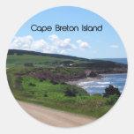 Paisaje de la Isla de Cabo Bretón Pegatina Redonda