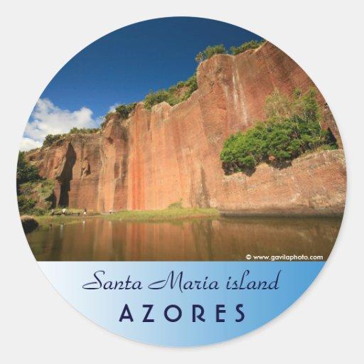 Paisaje de la isla de Santa María Pegatina Redonda