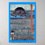 Paisaje de la luna del otoño por Ando, Hiroshige U Impresiones