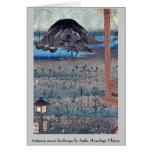 Paisaje de la luna del otoño por Ando, Hiroshige U Tarjetas
