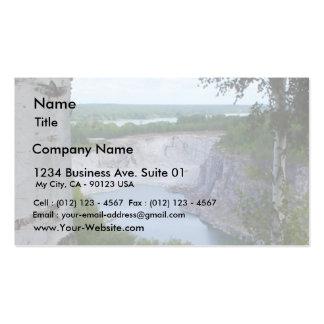 Paisaje de la mina de la piedra caliza plantilla de tarjeta de negocio
