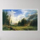 Paisaje de la montaña, 1895, Albert Bierstadt Posters