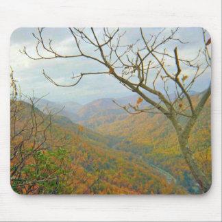 Paisaje de la montaña de Carolina del Norte Alfombrillas De Ratón