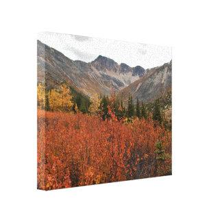 Paisaje de la montaña de la caída lona estirada galerías