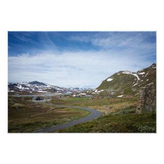 Paisaje de la montaña en Noruega Fotografía