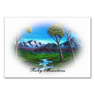 Paisaje de la montaña rocosa