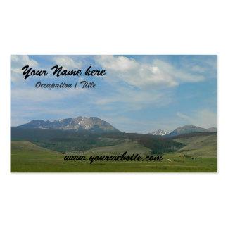 Paisaje de la montaña tarjetas de visita