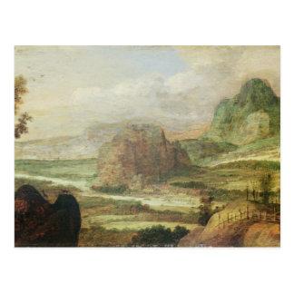 Paisaje de la montaña tarjetas postales