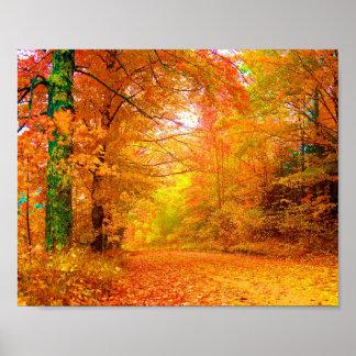 Paisaje de la naturaleza del otoño de Vermont Póster