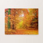 Paisaje de la naturaleza del otoño de Vermont Puzzle