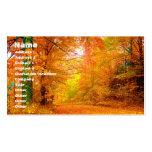Paisaje de la naturaleza del otoño de Vermont Tarjetas De Visita
