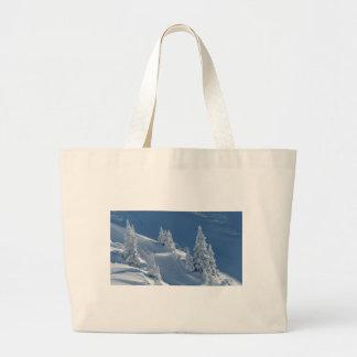 Paisaje de la nieve bolsa tela grande