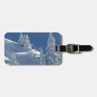 Paisaje de la nieve etiquetas bolsas