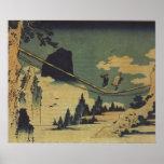 Paisaje de la pintura del arte de Hokusai Impresiones