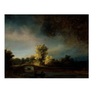 Paisaje de la pintura del arte de Rembrandt Tarjetas Postales
