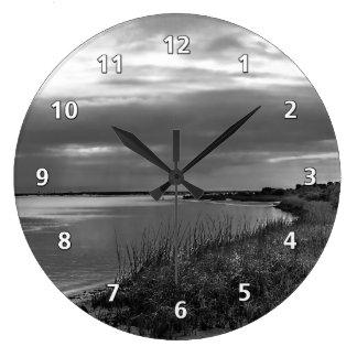 Paisaje de la plata esterlina, la Florida Reloj Redondo Grande