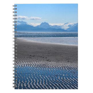 Paisaje de la playa de Alaska del home run Cuadernos
