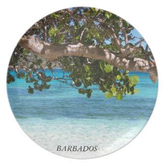 Paisaje de la playa de Barbados Platos De Comidas