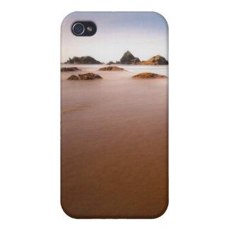paisaje de la playa de los brookings iPhone 4/4S carcasas