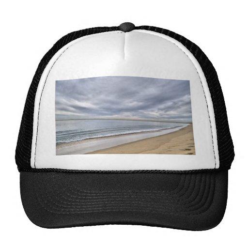 Paisaje de la playa de Newport Gorros Bordados