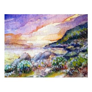 paisaje de la playa tarjeta postal