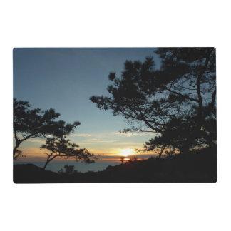 Paisaje de la puesta del sol III California del Tapete Individual