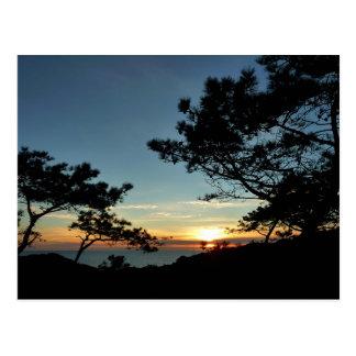 Paisaje de la puesta del sol III California del Tarjeta Postal