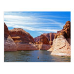 Paisaje de la reserva de agua de Arizona de la Postal