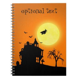 Paisaje de la silueta de Halloween - cuaderno