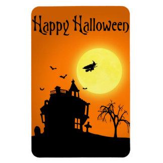 Paisaje de la silueta de Halloween - imán flexible