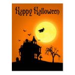 Paisaje de la silueta de Halloween - postal