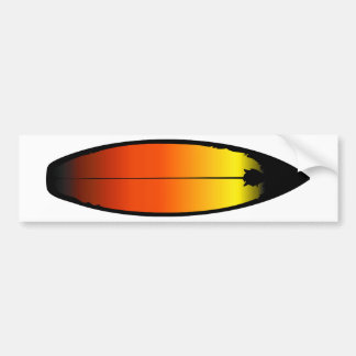 Paisaje de la tabla hawaiana etiqueta de parachoque