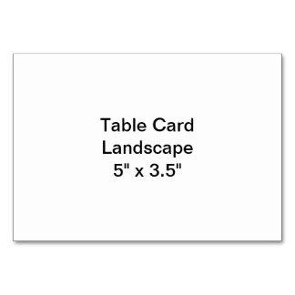 Paisaje de la tarjeta de la tabla