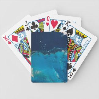 Paisaje de la tierra del espacio 2 baraja de cartas