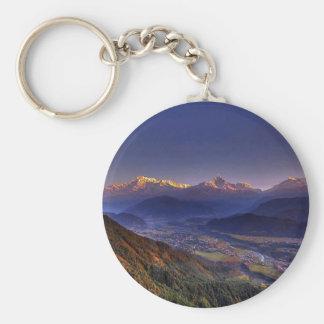 Paisaje de la visión: HIMALAYA POKHARA NEPAL Llavero Redondo Tipo Pin