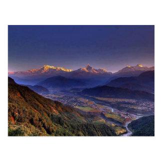 Paisaje de la visión HIMALAYA POKHARA NEPAL Postal