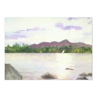 Paisaje de Lakeview con Sun que refleja en el lago Invitacion Personalizada