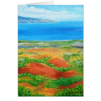 Paisaje de Lanai de la isla de Hawaii Tarjeta Pequeña