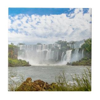 Paisaje de las cascadas en el parque de Iguazu Azulejo Cuadrado Pequeño