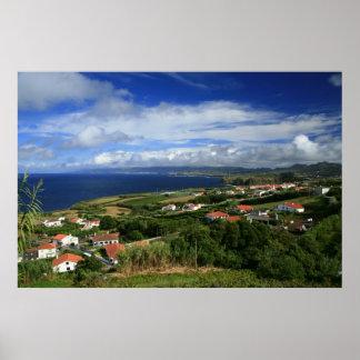 Paisaje de las islas de Azores Posters
