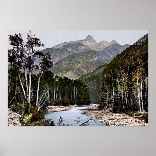 Paisaje de las montañas de la aguja de Durango, Co Póster