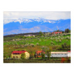 Paisaje de las montañas de Sibiu Tarjeton