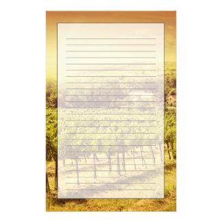 Paisaje de los viñedos papelería