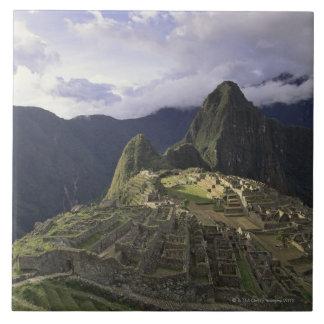 Paisaje de Machu Picchu, Perú Azulejo Cuadrado Grande