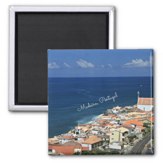 Paisaje de Madeira, Portugal Imán Cuadrado