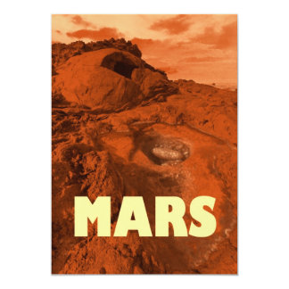 """Paisaje de Marte Invitación 5"""" X 7"""""""