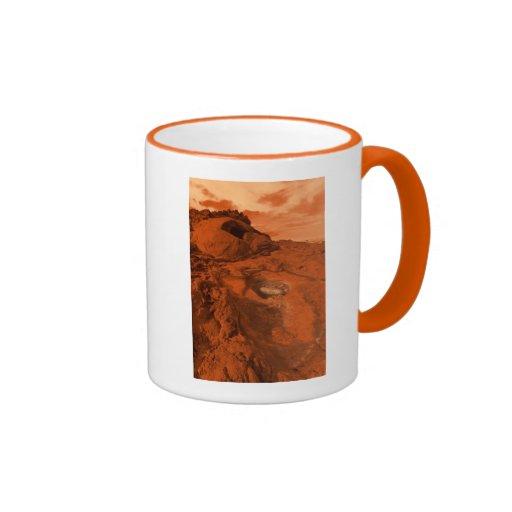 Paisaje de Marte Taza De Café