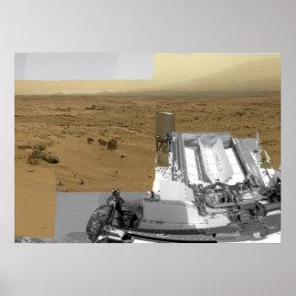 Paisaje de Marte: Una foto histórica Posters
