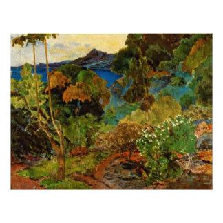 """Paisaje de Martinica de Paul Gauguin (1887) Folleto 8.5"""" X 11"""""""