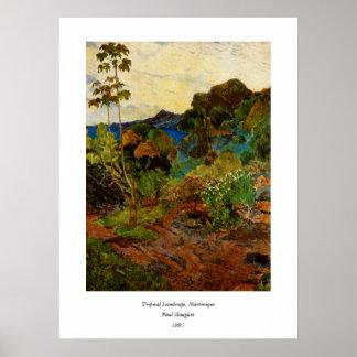Paisaje de Martinica de Paul Gauguin (1887) Poster